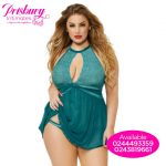 Turquoise green lace nightie