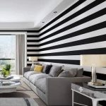 Black and White Striped Wallpaper (Pattern 18)