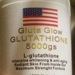 Gluta glow glutathione skin whitening capsules