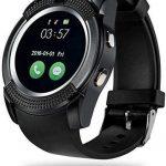 V8 Smart Watch phone- Black + Free TWS Bluetooth Earphone