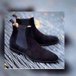 Blue Black Desert Boots