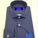 GrosVenor Dark Blue With Roses Shirt