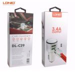 Original LDNIO Car Charger DUAL USB PORT 3.4A