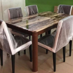 Six Seater Marble Dining Set