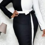 Black And White Ladies Office Wear