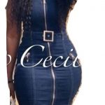 Jeans Dress With Front Zip