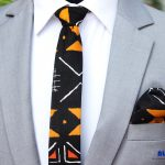 BLUE CITY black and gold flying tie set