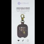 Original Crocodile Grain Apple Airpods Case With Hook