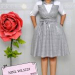 Ladies formal Wear (Grey And White)