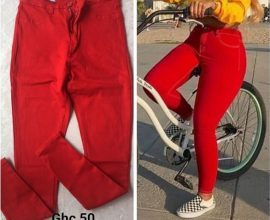 ladies red jeans in ghana