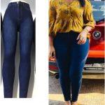 Ladies Skinny Jeans (Deep Blue)