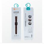 Coteetci Apple Leather Watchband 42/44mm (Black )