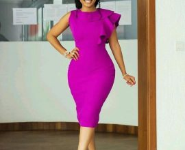 purple formal dress in ghana