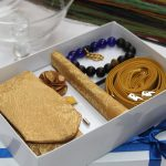 BLUE CITY Executive gold flying tie gift set package