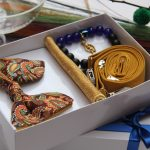 BLUE CITY gold butterfly bow tie gift set package