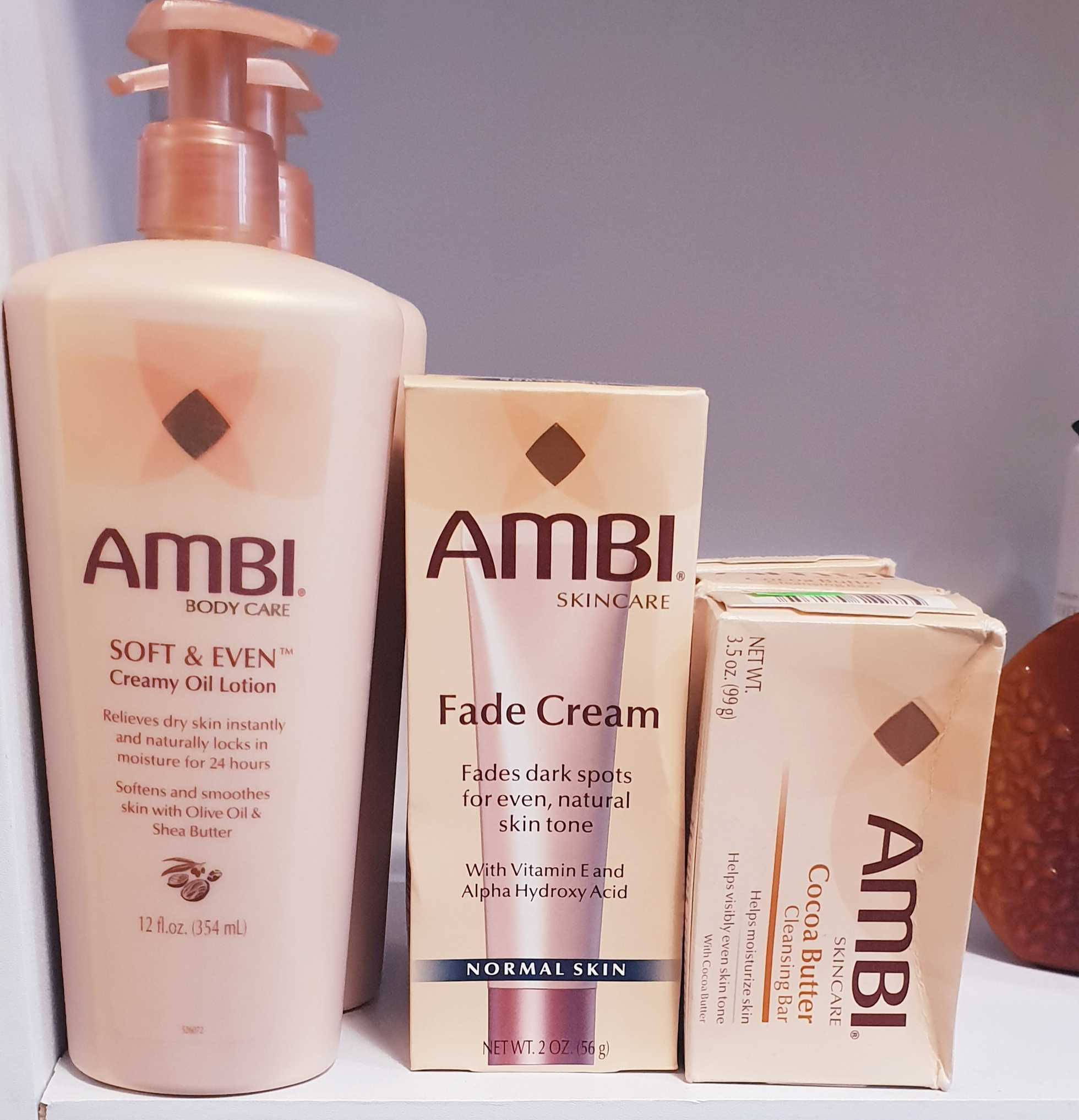 Ambi Body Lotion, Fade Cream, Soap