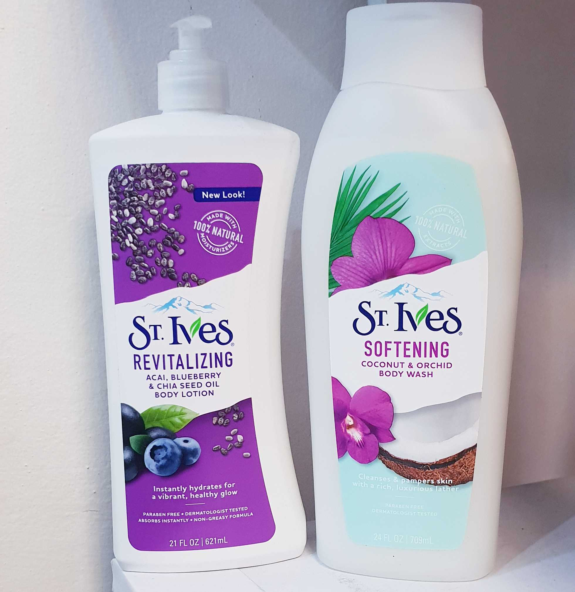 St Ives Body Wash and Body Lotion