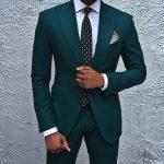 Dark Green Mens Suit