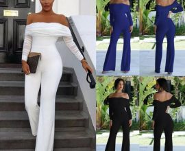 off the shoulder jumpsuit in ghana