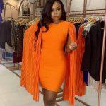 Orange Dinner Dress