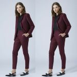 Burgundy Trouser Suit For Ladies