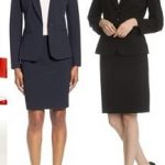 Navy Blue Skirt Suit (Also available in black)