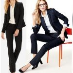 Black Womens Trouser Suit (Also available in Navy blue)