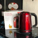 LOGIK 1.7L Cordless Kettle Red.