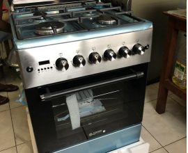 4 burner gas cooker with oven and grill