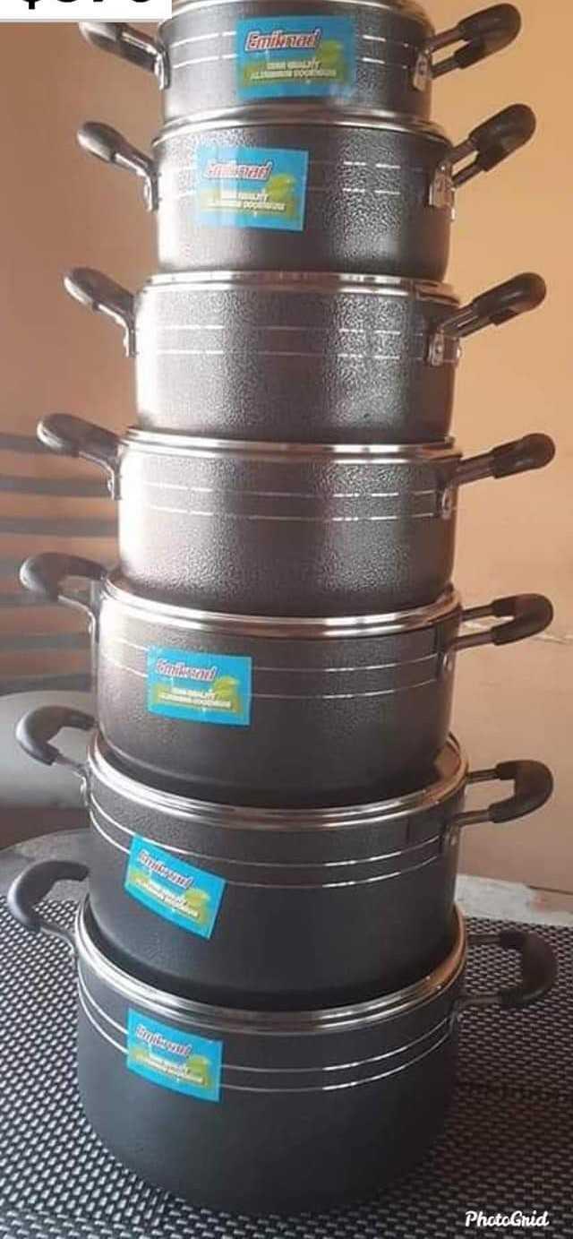 Non Stick 7 Piece Cookware