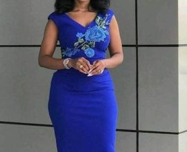 royal blue office dress
