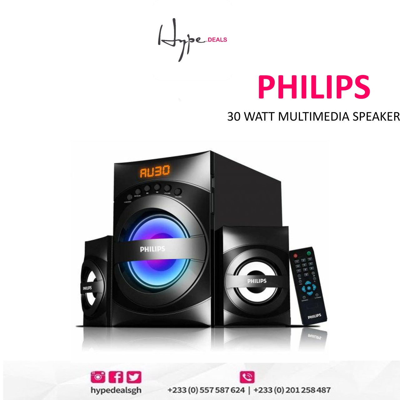 Philips 30 Watt Multimedia Speaker (MMS3535F)