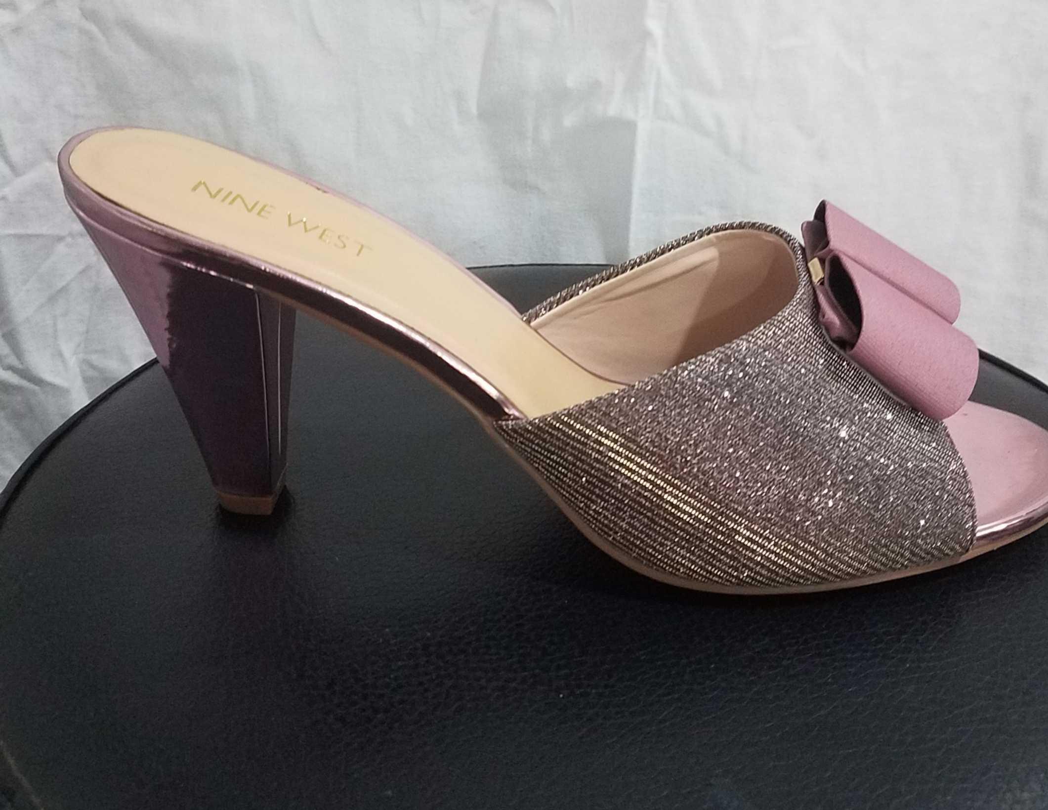 Ladies Block Heel Slippers Size 41
