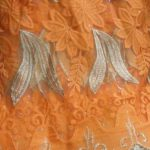 Orange and Gold Lace Fabric