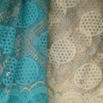 Light Blue Lace Fabrics (Also available in cream)
