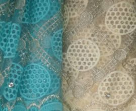 light blue lace fabric