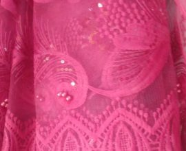 hot pink lace fabric