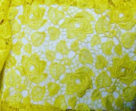 yellow lace fabric
