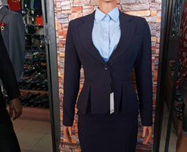 dark blue suit for ladies
