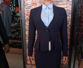 dark blue suit for ladies
