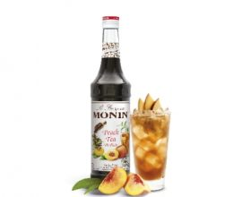 monin peach tea syrup.