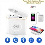 3 in 1 Power Bank + Wireless charger + Bluetooth headset