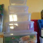 Plastic Storage Bowls 6 Set