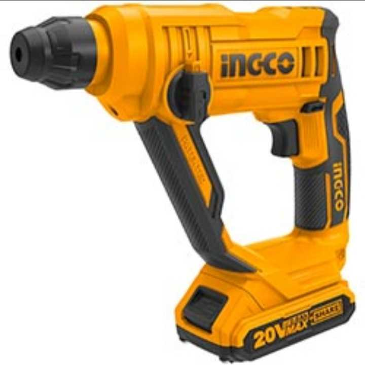 Ingco cordless rotary Hammer +1 battery 4AH 1 charger +free bag