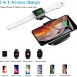 USAMS 10W 2 in 1 Fast Charging Wireless Charger Pad For iPhones