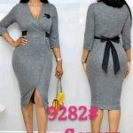 Grey Belted Dress