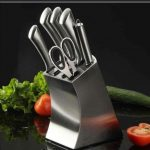 Knife Set With Heavy Metallic Stand