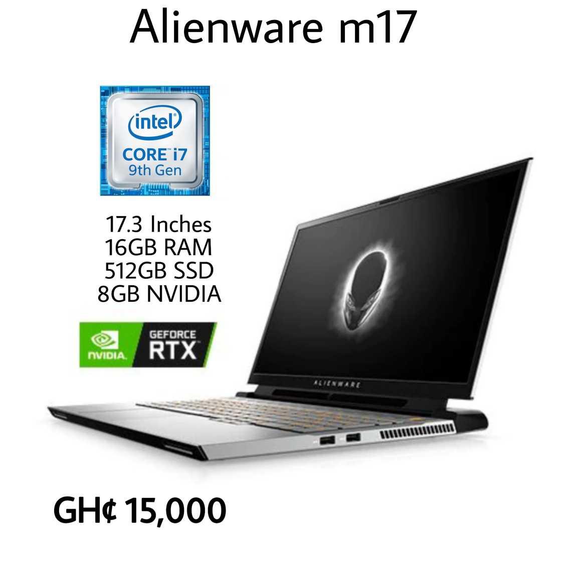 Alienware m17 Core i7 512gb SSD