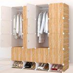 16 cubes plastic wardrobe