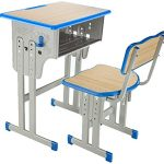 Adjustable kids learning desk with chair